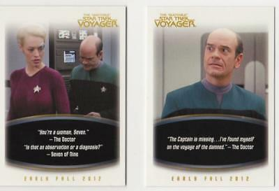5- Star Trek Promo Cards. Voyager, DS9, Enterprise And Animated. Rittenhouse