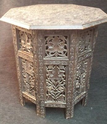 Anglo-Indian Antique Octagonal folding side table.