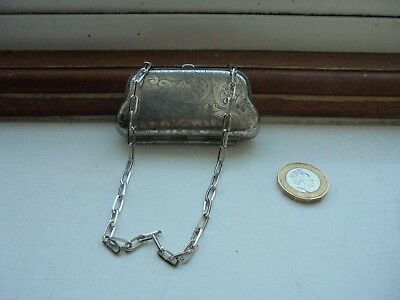 Antique SILVER PLATED Small COIN PURSE