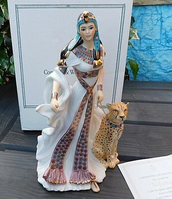 Limited Edition ROYAL WORCESTER Figurine NEFERTARI Egyptian CW772 Low # 67