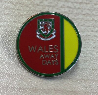 Wales Away Days Football Enamel Pin Badge Souvenir. Together Stonger