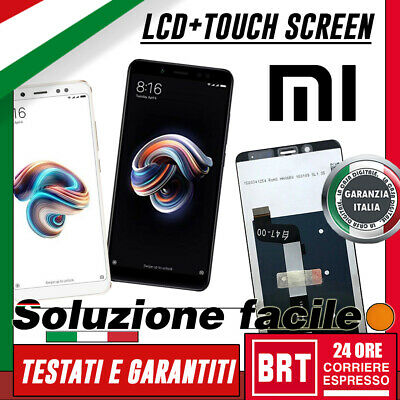 DISPLAY LCD+TOUCH SCREEN per XIAOMI REDMI NOTE 5 SCHERMO VETRO MONITOR BRT_24H