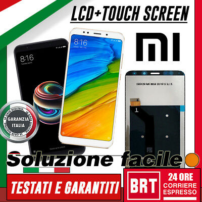 Lcd+Touch Screen Per Xiaomi Redmi 5 Plus 5+ Display Ricambio Vetro Schermo_24H!!