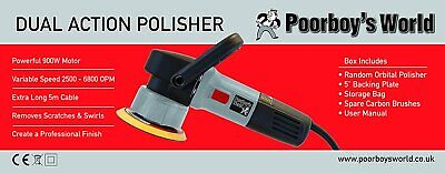 Poorboys World Dual Action Polisher 240V 900W With Storage Bag