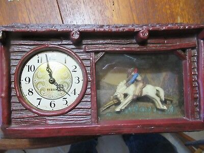 Haddon Original Broncing Horse Cowboy Motion Clock Parts