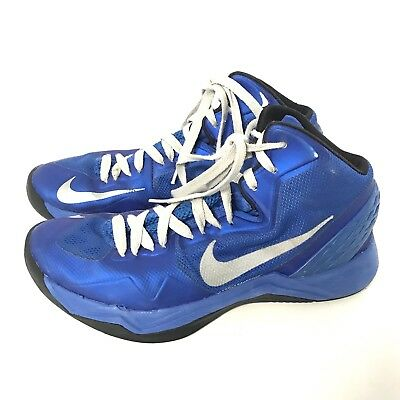 official photos fd533 a0590 Nike Air Zoom Hyperdisruptor Blue High Top Shoes Size 7.5 Mens Basketball  As Is
