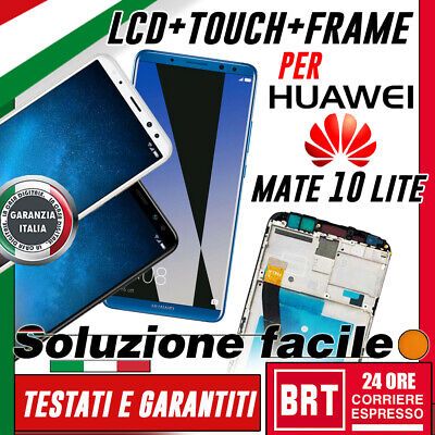 Lcd+Touch Screen+Frame Huawei Mate 10 Lite Originale Rne-L21 Rne-L01 Display 24H