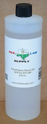 Tex Lab Supply Polyéthylène Glycol 300 (Crochet 300) Nf-Fcc/Ep-Usp 500 Ml -