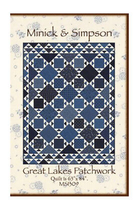 Quilt Pattern GREAT LAKES PATCHWORK Moda Minick & Simpson LEXINGTON