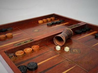 Antique Large Chess And Backgammon Board Plus 1  Sheker Dices And Counters