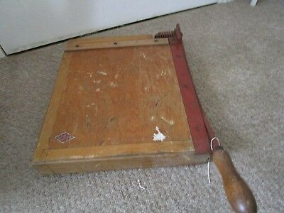 Vintage Wooden Guillotine  British Made by Nebro