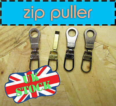 Metal  Zip Puller Zip Fix Zipper Repair Zip Fix Sliders Slider Pull Zip 4colors