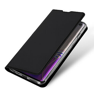 DUX DUCIS PU Leather Wallet Smart Flip Case for Samsung Galaxy S10 - Black