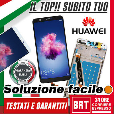 Lcd+Touch Screen+Frame Originale Huawei P Smart Fig-Lx1 Display Vetro_Brt 24H!!