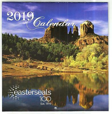 2019 Easter Seals Wall Calendar With Large Spaces For Notes,,etc..free Shipping