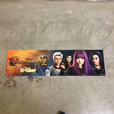 Disney Descendants 2 Store Display Sign Banner 48X12 Double Sided