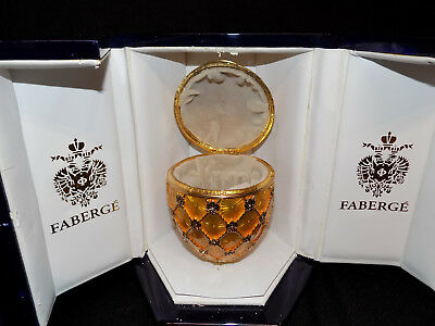 Authentic Faberge Coronation Egg, Neiman Marcus, With Box, Missing Stand