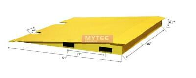 """68"""" x 86"""" HD Steel Shipping Container Loading Ramps, 14,000 Lbs Capacity"""