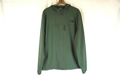 NEW THE NORTH FACE Men's Green Nimble Lightweight Zip Front Hooded Jacket Large