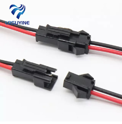 15 cm 10 pairs 20PCS long JST Sm plug-female 2-pin connector connector wires