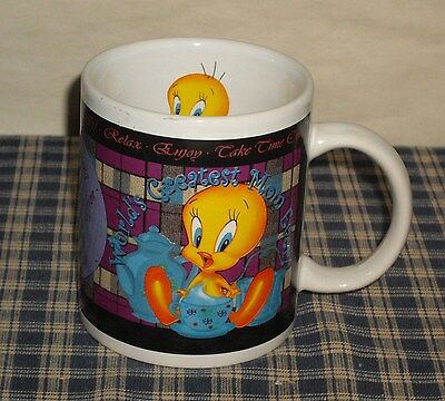 "Warner Bros. Tweety Bird Tea Cup/Mug ""World's Greatest Mom Ever"""