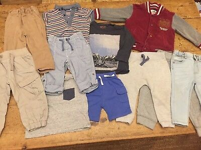 Baby Boy 12-18 Months Clothes Bundle River Island, Next