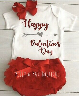 Luxury Girls My 1st First Valentine's Day Outfit Vest Tutu Knickers Photo Shoot