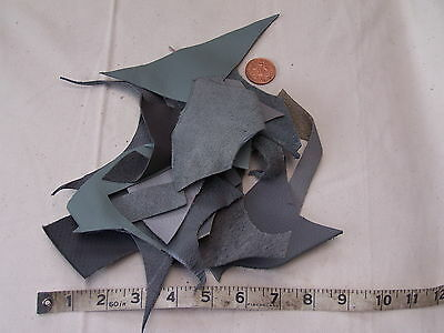 100Grams Shades Of Grey  Leather Pieces/ Scraps / Off Cuts - Crafts - Hobbies