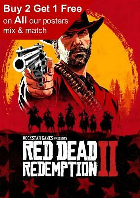 Red Dead 2 Redemption Game Poster A5 A4 A3 A2 A1