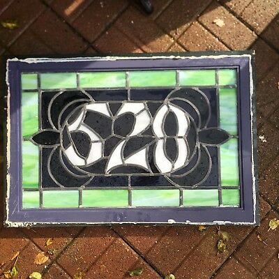 Victorian Beveled Stained Glass House Number 528