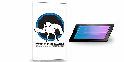 Tuff Protect Clear Screen Protectors - Custom Cut - Medium Size (2pcs)