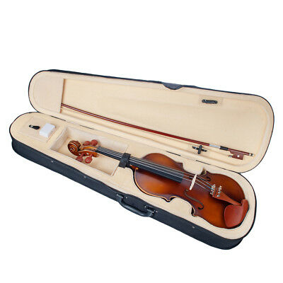 4/4 Full Size Acoustic Violin Set for Beginners Students Music Lovers Gift