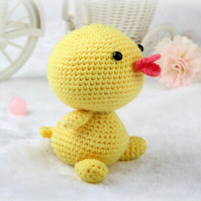 DIY Yellow Duck Toy Crochet Kit Knitting Craft with Supplies for Kids Child