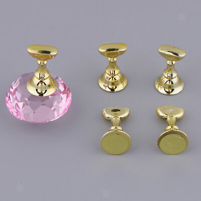 5 PCS Nail Art Crystal Practice Tips for Training Display Stand Base Holder