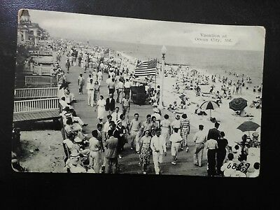 Vintage postcard stamped 1939 Ocean City,  Maryland with 1 cent Washington stamp