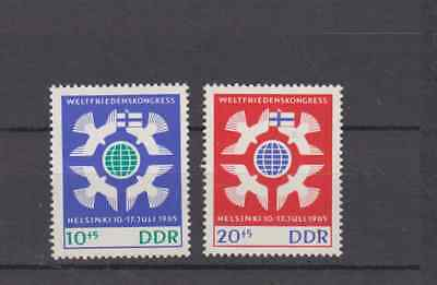 Ddr East Germany 1965 Peace Conference Helsinki Complete Set Mint Never Hinged