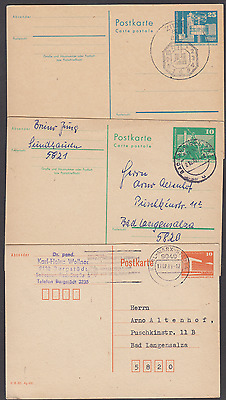 DDR EAST GERMANY 5 USED PSEs