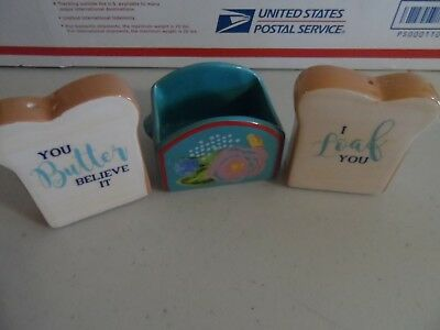 Pioneer Woman Cute Toast Salt & Pepper shakers NEW--NO BOX---Never used---L@@K!!