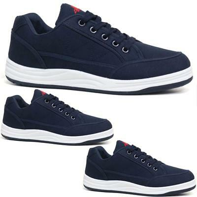 Mens New Flat Canvas Trainers Plimsoles Shoes Lace Up Casual Sneakers Pumps Size