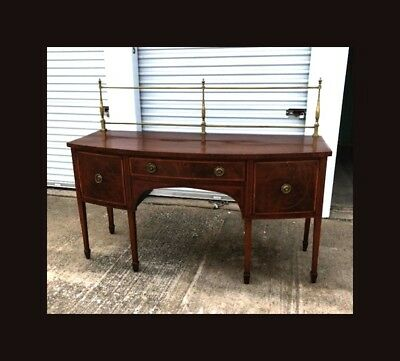 Antique George Iii Regency Hepplewhite Sideboard W/ Rail Circa 1810-30 English