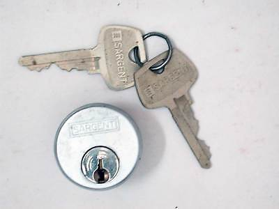 Vintage Original New Old Stock Sargent & Co Lock Cylinder Original Nickel w Keys