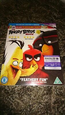 The Angry Birds Movie (Blu-ray 3D + Blu-ray 2016) NEW & SEALED