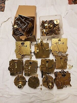 Large job lot of clock movements and parts