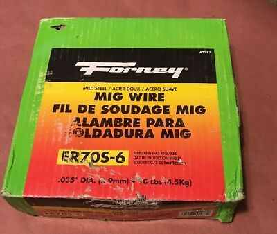 Forney Mig Wire .035 ER70S-6 10lbs Mild Steel Gas Shielding Required 42287