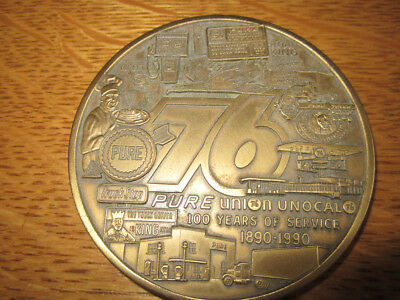Solid Brass Commemorative Medallion for 100 Year Anniversary of Union 76