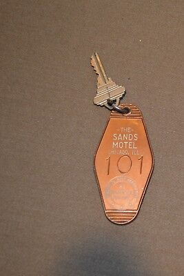 Vintage Sands Motel Chicago IL Room Key Fob