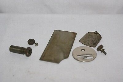 Antique Singer Treadle Sewing Machine Parts   Misc Plate LOT