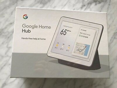 Google Home Hub with Google Assistant (GA00515-US) - Charcoal - BRAND NEW!