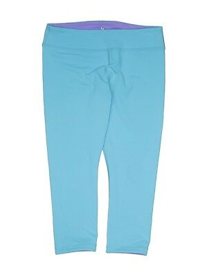 8d30cd1309d5da Ivivva Lululemon Girls Cropped Capri Leggings Size 14 Light Blue Purple