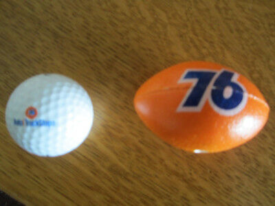 Union 76 Football for Car Antenna and 76 Auto/TruckStop Golf Ball- Free Shipping
